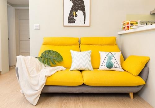 沙發跳色實品分享:用沙發瞬間反轉客廳氣氛!