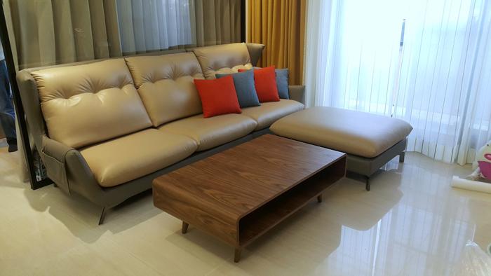 浪琴-皮沙發